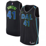 Wholesale Cheap Nike Dallas Mavericks #41 Dirk Nowitzki Black NBA Swingman City Edition Jersey
