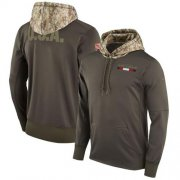 Wholesale Cheap Men's Atlanta Falcons Nike Olive Salute to Service Sideline Therma Pullover Hoodie