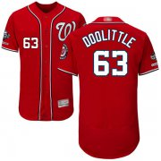 Wholesale Cheap Nationals #63 Sean Doolittle Red Flexbase Authentic Collection 2019 World Series Champions Stitched MLB Jersey