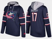 Wholesale Cheap Blue Jackets #17 Brandon Dubinsky Navy Name And Number Hoodie