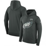 Wholesale Cheap NFL Men's Philadelphia Eagles Nike Anthracite Crucial Catch Performance Pullover Hoodie