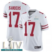 Wholesale Cheap Nike 49ers #17 Emmanuel Sanders White Super Bowl LIV 2020 Men's Stitched NFL Vapor Untouchable Limited Jersey