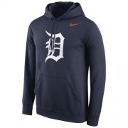 Wholesale Cheap Detroit Tigers Nike Logo Performance Pullover Navy MLB Hoodie