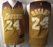 Wholesale Cheap Los Angeles Lakers #24 Kobe Bryant Yellow Resonate Fashion Jersey