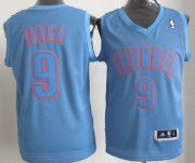 Wholesale Cheap Oklahoma City Thunder #9 Serge Ibaka Revolution 30 Swingman Light Blue Big Color Jersey