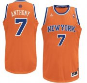 Wholesale Cheap New York Knicks #7 Carmelo Anthony Orange Swingman Jersey