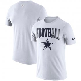 Wholesale Cheap Dallas Cowboys Nike Sideline All Football Performance T-Shirt White