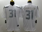 Wholesale Cheap Nike Seahawks #31 Kam Chancellor White Men's Stitched NFL Limited Platinum Jersey