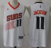 Wholesale Cheap Men's 2017 Draft Phoenix Suns #11 Josh Jackson White Stitched NBA adidas Revolution 30 Swingman Jersey