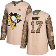 Wholesale Cheap Adidas Penguins #17 Bryan Rust Camo Authentic 2017 Veterans Day Stitched Youth NHL Jersey