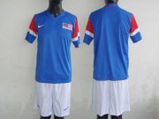 Wholesale Cheap Malaysia Blank Blue 2011/2012 Away Soccer Country Jersey