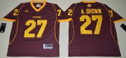 Wholesale Cheap Men's Central Michigan Chippewas #27 Antonio Brown Maroon Red Limited Stitched College Football 2016 adidas NCAA Jersey