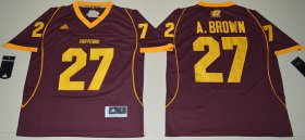 Wholesale Cheap Men\'s Central Michigan Chippewas #27 Antonio Brown Maroon Red Limited Stitched College Football 2016 adidas NCAA Jersey