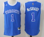 Wholesale Cheap Men's Toronto Raptors #1 Tracy McGrady Blue Stitched 2017 NBA Adidas Revolution 30 Swingman Jersey