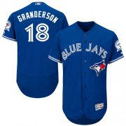 Wholesale Cheap Blue Jays #18 Curtis Granderson Blue Flexbase Authentic Collection Stitched MLB Jersey