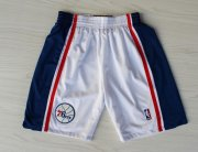 Wholesale Cheap Philadelphia 76ers White Throwback Short
