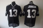 Wholesale Cheap Bills #13 Steve Johnson Black Shadow Stitched NFL Jersey