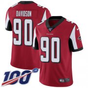 Wholesale Cheap Nike Falcons #90 Marlon Davidson Red Team Color Men's Stitched NFL 100th Season Vapor Untouchable Limited Jersey