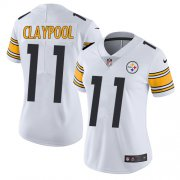 Wholesale Cheap Nike Steelers #11 Chase Claypool White Women's Stitched NFL Vapor Untouchable Limited Jersey
