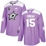 Cheap Adidas Stars #15 Blake Comeau Purple Authentic Fights Cancer Youth 2020 Stanley Cup Final Stitched NHL Jersey