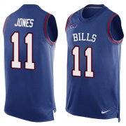 Wholesale Cheap Nike Bills #11 Zay Jones Royal Blue Team Color Men's Stitched NFL Limited Tank Top Jersey