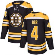 Wholesale Cheap Adidas Bruins #4 Bobby Orr Black Home Authentic Youth Stitched NHL Jersey