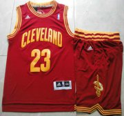 Wholesale Cheap Cleveland Cavaliers #23 LeBron James Red Revolution 30 Swingman Jersey Short Suits