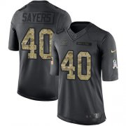 Wholesale Cheap Nike Bears #40 Gale Sayers Black Men's Stitched NFL Limited 2016 Salute to Service Jersey