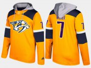 Wholesale Cheap Predators #7 Yannick Weber Yellow Name And Number Hoodie