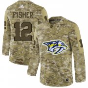 Wholesale Cheap Adidas Predators #12 Mike Fisher Camo Authentic Stitched NHL Jersey