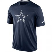 Wholesale Cheap Dallas Cowboys Nike Legend Logo Essential 2 Performance T-Shirt Navy