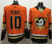 Wholesale Cheap Adidas Ducks #10 Corey Perry Orange Authentic Stitched NHL Jersey