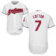 Wholesale Cheap Indians #7 Kenny Lofton White Flexbase Authentic Collection Stitched MLB Jersey