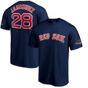 Wholesale Cheap Boston Red Sox #28 J.D. Martinez Majestic 2019 Gold Program Name & Number T-Shirt Navy