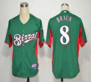 Wholesale Brewers #8 Ryan Braun Green Birrai Cool Base Stitched Baseball Jersey