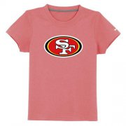 Wholesale Cheap San Francisco 49ers Sideline Legend Authentic Logo Youth T-Shirt Pink