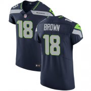 Wholesale Cheap Nike Seahawks #18 Jaron Brown Steel Blue Team Color Men's Stitched NFL Vapor Untouchable Elite Jersey