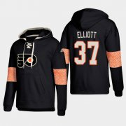 Wholesale Cheap Philadelphia Flyers #37 Brian Elliott Black adidas Lace-Up Pullover Hoodie