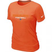 Wholesale Cheap Women's Nike Chicago Bears Critical Victory NFL T-Shirt Orange