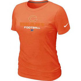 Wholesale Cheap Women\'s Nike Chicago Bears Critical Victory NFL T-Shirt Orange