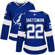 Cheap Adidas Lightning #22 Kevin Shattenkirk Blue Home Authentic Women's Stitched NHL Jersey