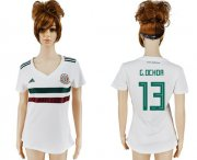 Wholesale Cheap Women's Mexico #13 G.Ochoa Away Soccer Country Jersey