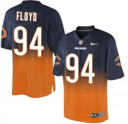 Wholesale Nike Bears #94 Leonard Floyd Navy Blue/Orange Men's Stitched NFL Elite Fadeaway Fashion Jersey