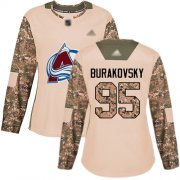 Wholesale Cheap Adidas Avalanche #95 Andre Burakovsky Camo Authentic 2017 Veterans Day Women's Stitched NHL Jersey
