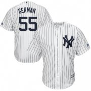 Wholesale Cheap Yankees #55 Domingo German White Strip New Cool Base Stitched MLB Jersey
