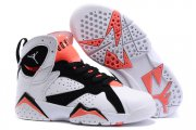 Wholesale Cheap Kids' Air Jordan 7 Retro Shoes White/red-black