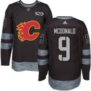 Wholesale Cheap Adidas Flames #9 Lanny McDonald Black 1917-2017 100th Anniversary Stitched NHL Jersey