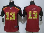 Wholesale Cheap Nike Buccaneers #13 Mike Evans Red Team Color Women's Stitched NFL Elite Strobe Jersey