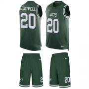 Wholesale Cheap Nike Jets #20 Isaiah Crowell Green Team Color Men's Stitched NFL Limited Tank Top Suit Jersey
