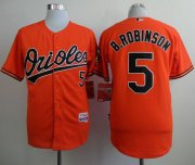Wholesale Cheap Orioles #5 Brooks Robinson Orange Cool Base Stitched MLB Jersey